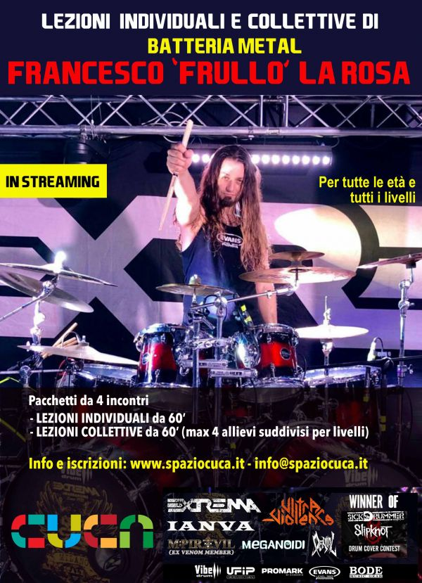 Lezioni di BATTERIA METAL - in streaming
